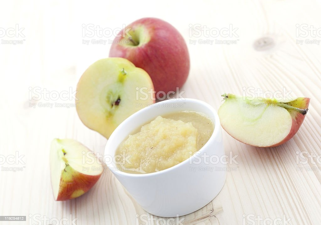 applesauce in bowl royalty-free stock photo