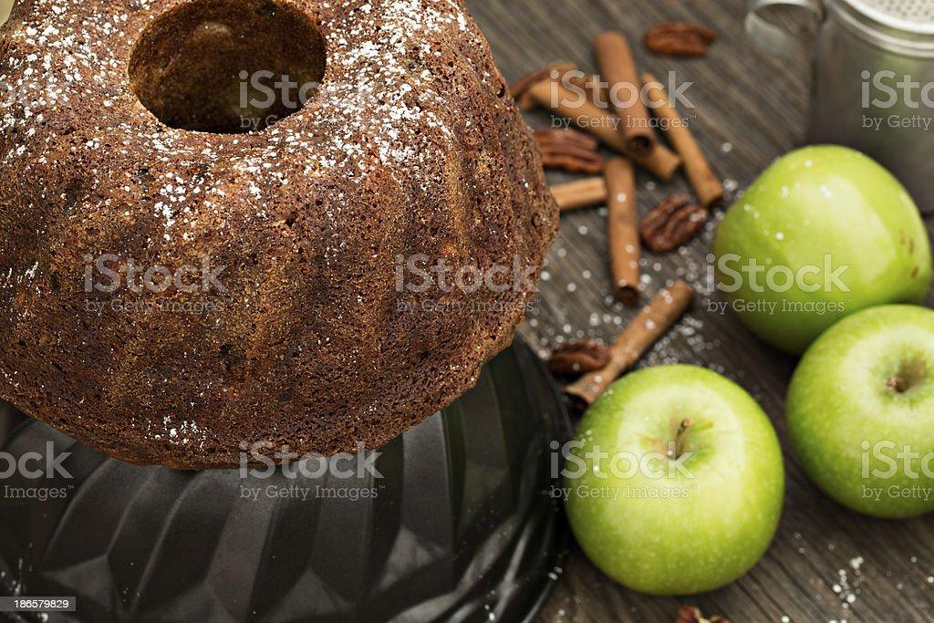 Applesauce Rum Bundt Cake stock photo