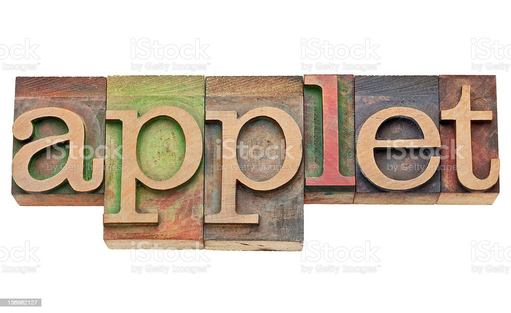 applet - software concept stock photo