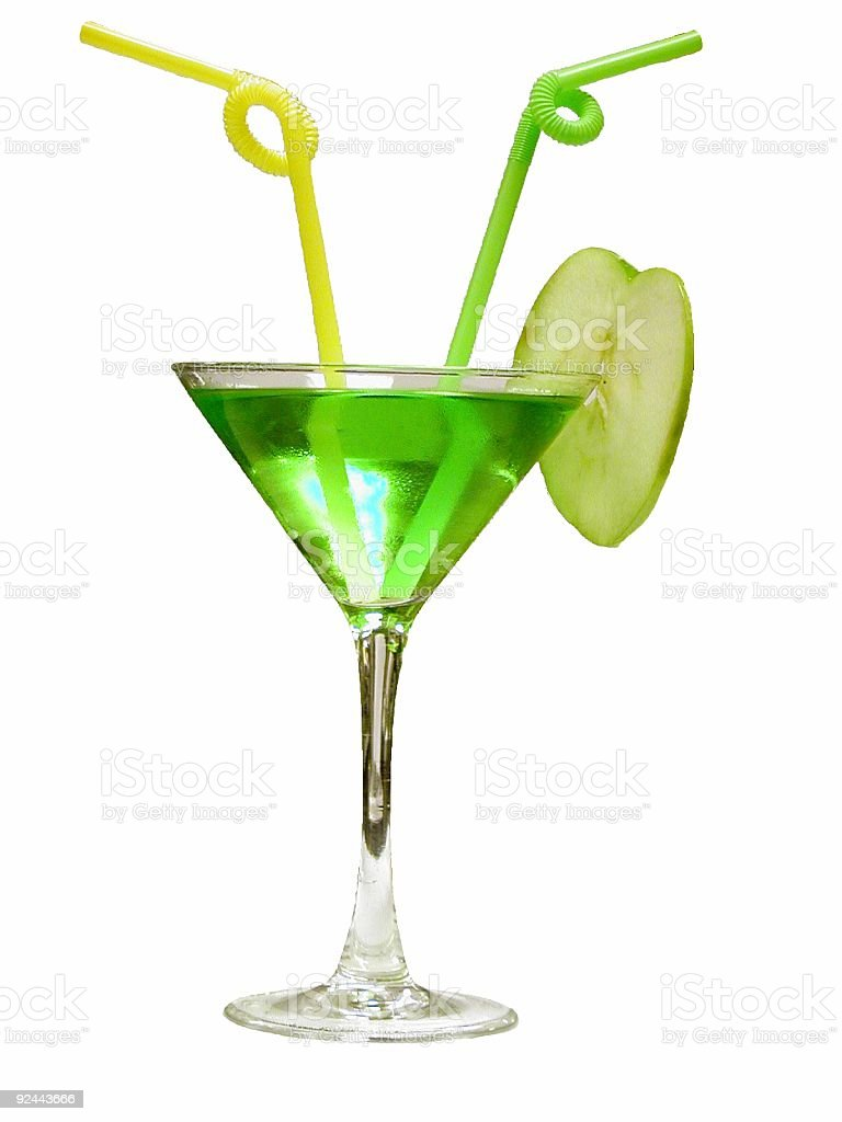 Appletini for Two royalty-free stock photo
