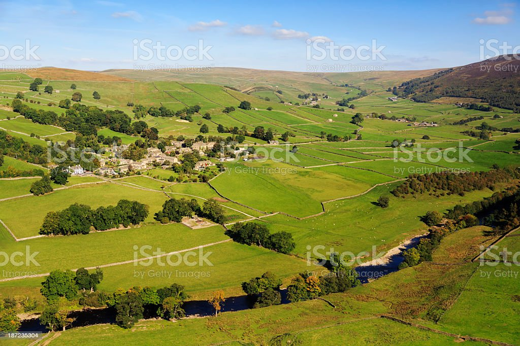 Appletreewick in the Yorkshire Dales royalty-free stock photo