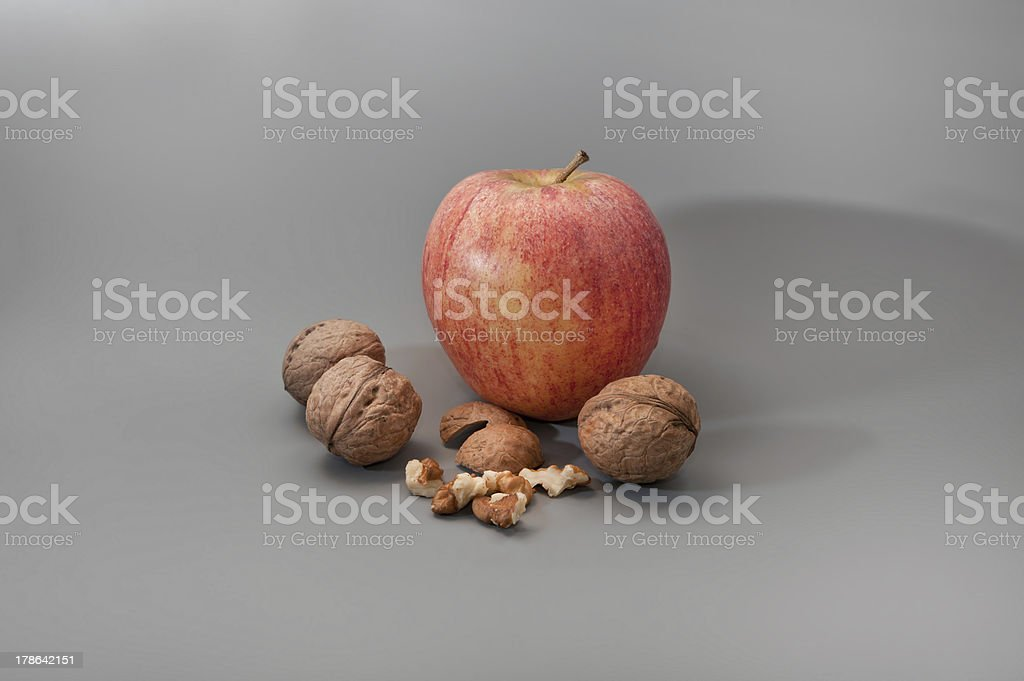 appleWalnuts stock photo