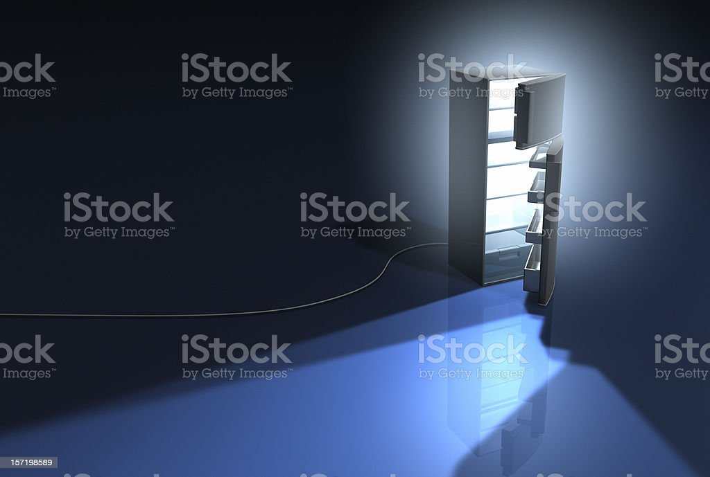 Appliance series Refrigerator royalty-free stock photo