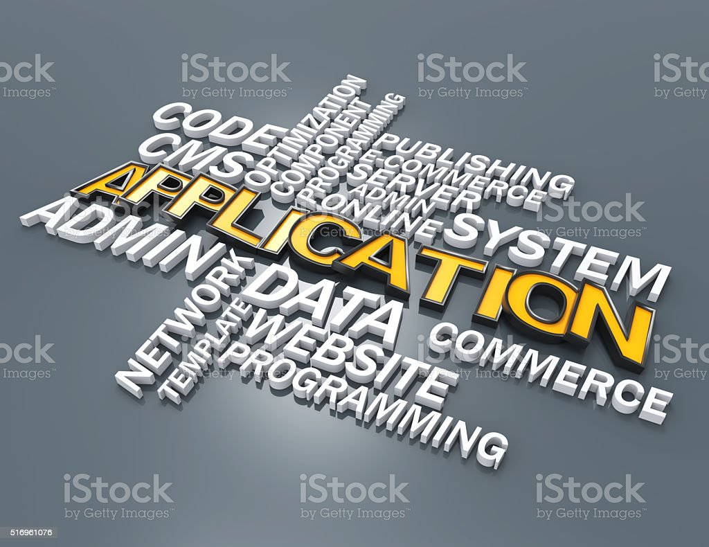 Application crossword concept stock photo