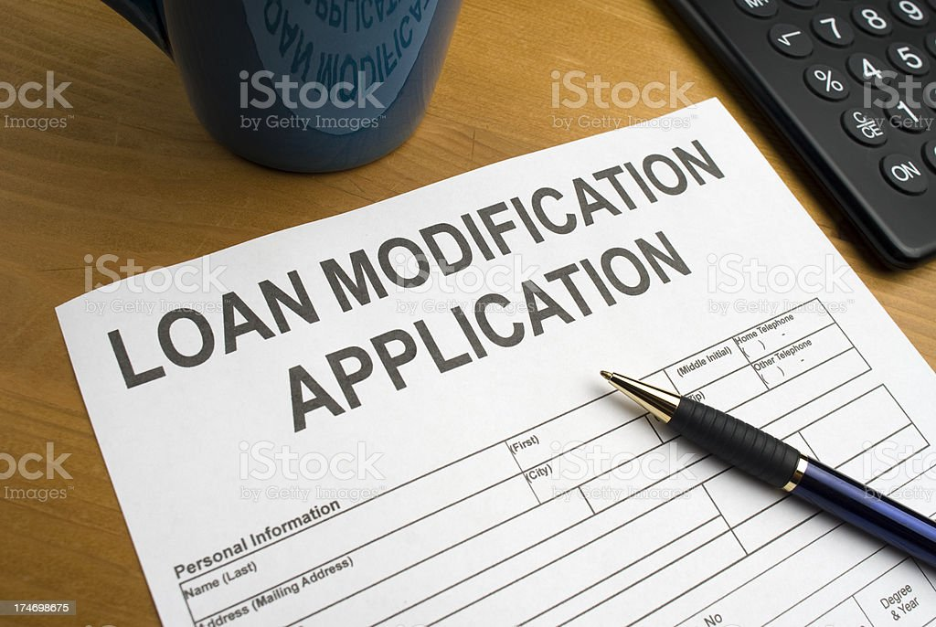 Application for a Loan Modification royalty-free stock photo