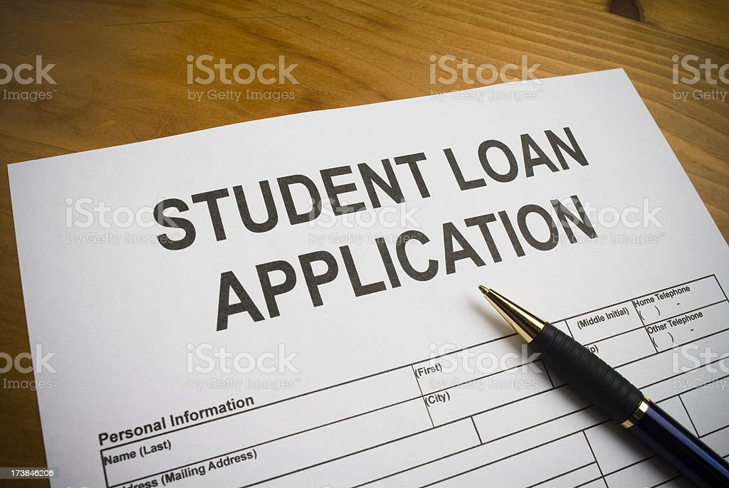 Application for a Student Loan royalty-free stock photo