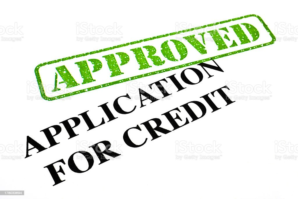 Application For Credit APPROVED royalty-free stock photo
