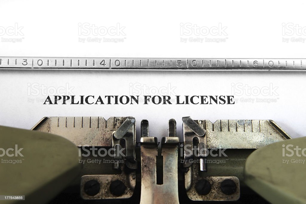 Application for license royalty-free stock photo