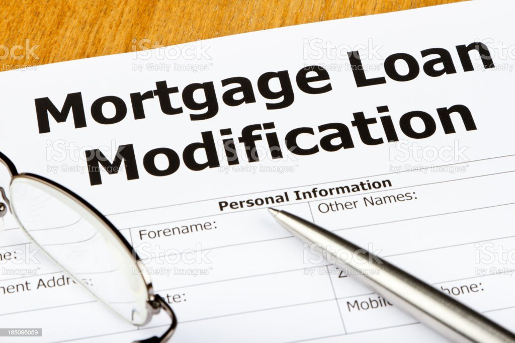Application for Mortgage Loan Modification royalty-free stock photo