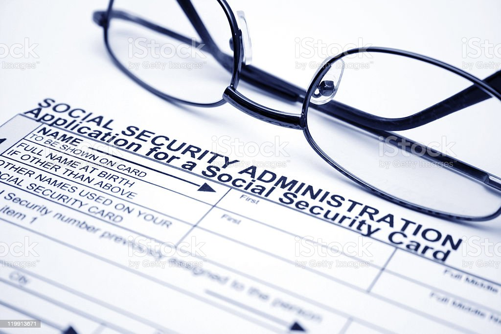 Application for social security card royalty-free stock photo