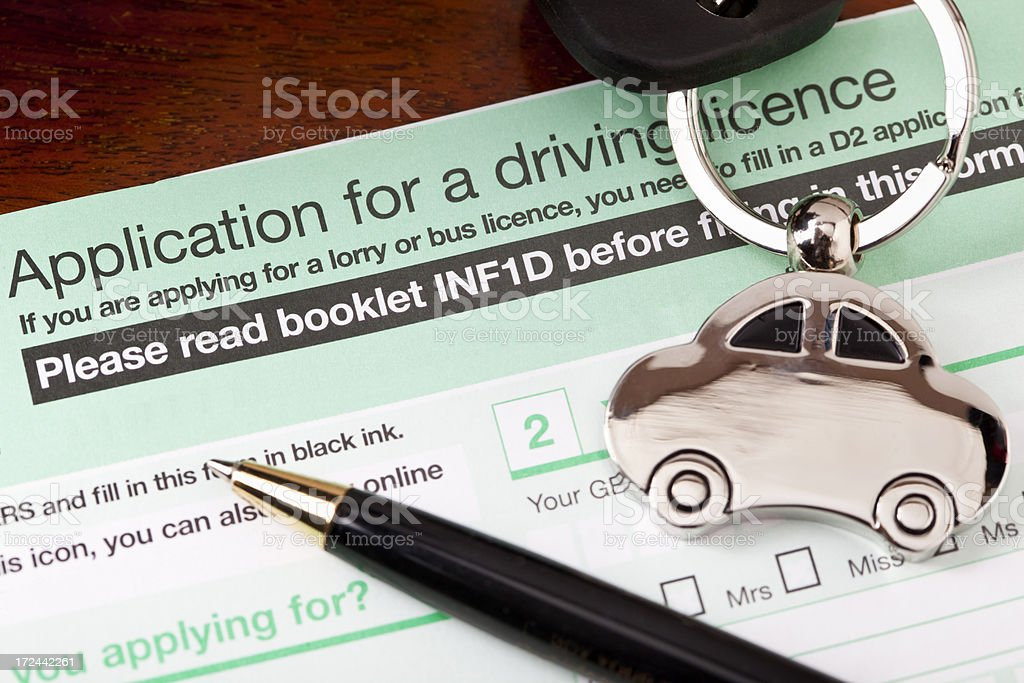 Application for UK Driving Licence royalty-free stock photo