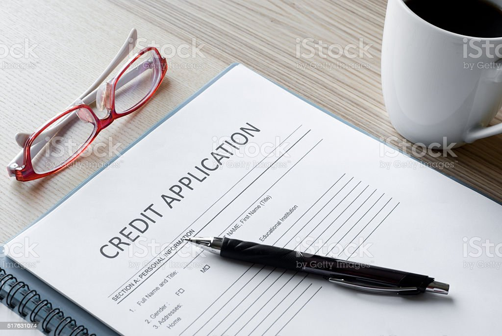 application form credit stock photo