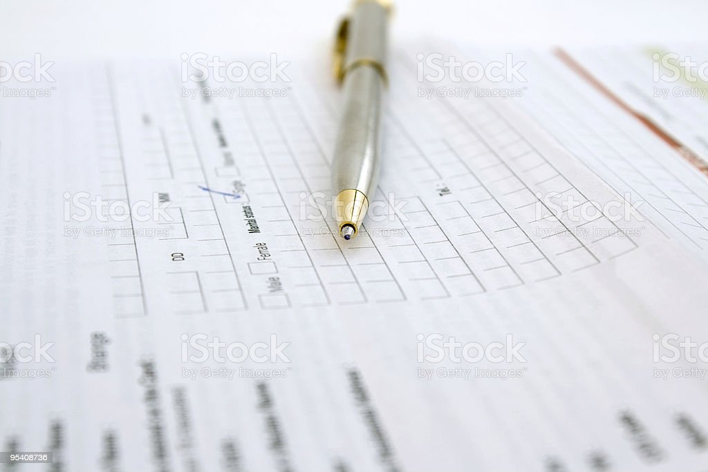 Application Form & Pen royalty-free stock photo