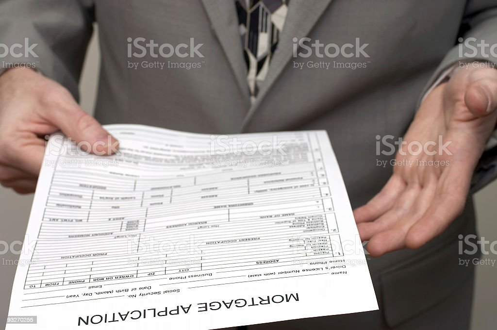 Application - Mortgage royalty-free stock photo