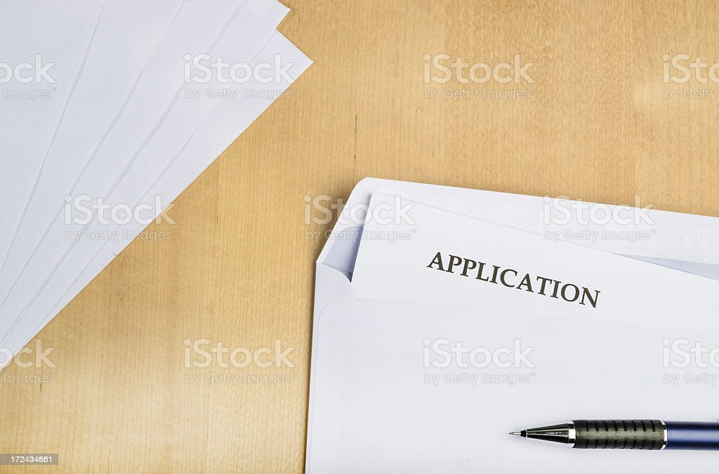 Application on table royalty-free stock photo