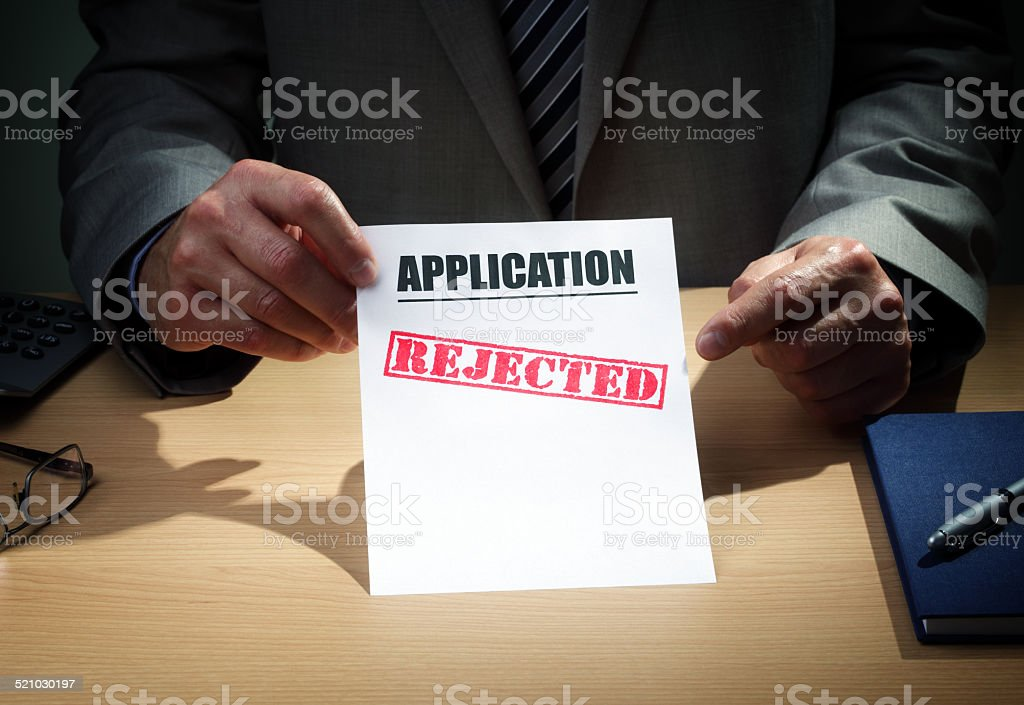 Application rejected stock photo