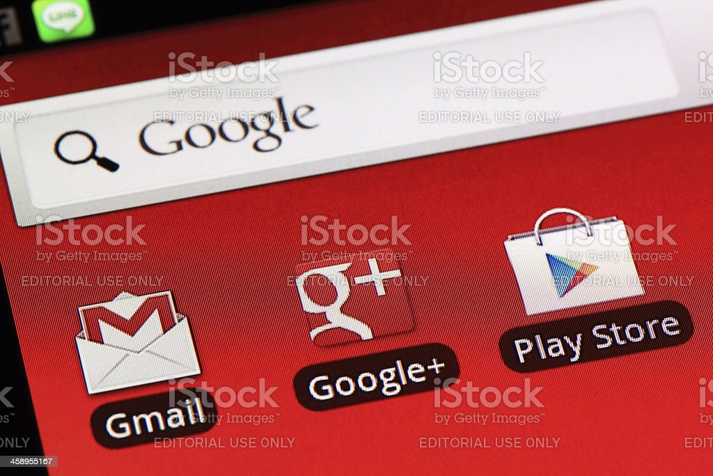 Applications on Android stock photo