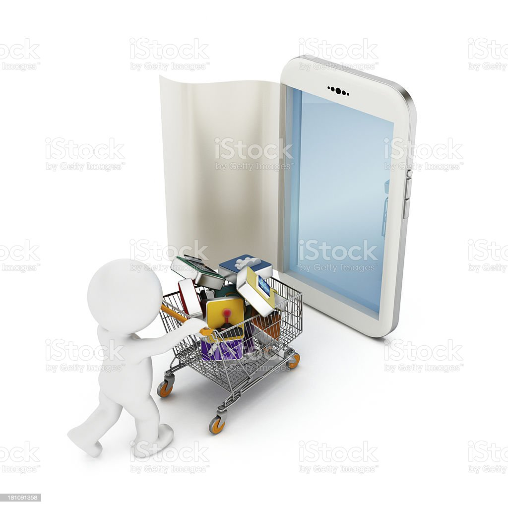 Applications shopping royalty-free stock photo