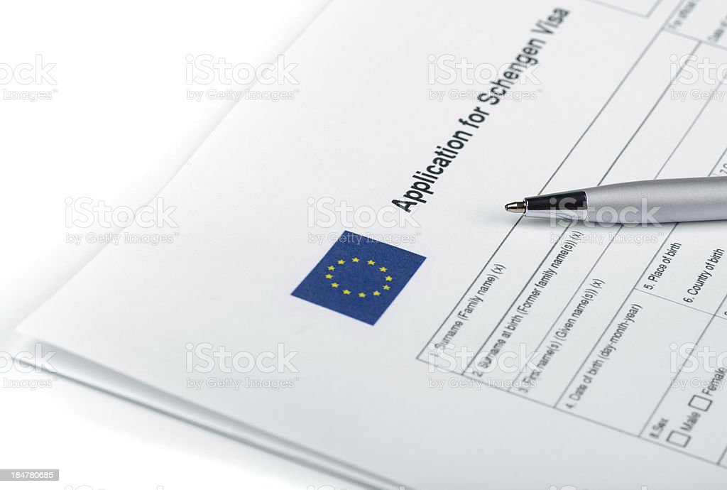 Applicatoin for Schengen Visa stock photo