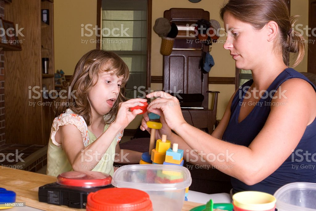 Applied Behavior Analysis Therapy Session (series) stock photo