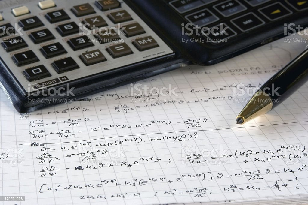 Applied science (real math) royalty-free stock photo