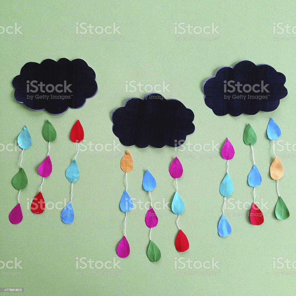 Applique 'Colorful rain'. stock photo