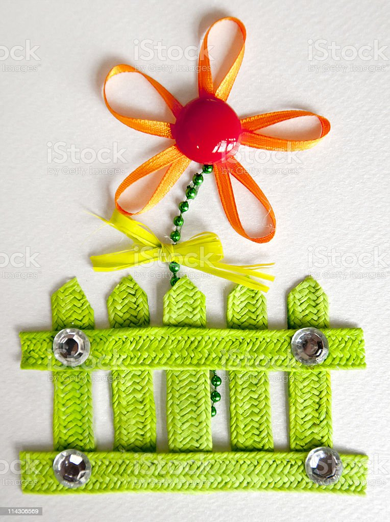applique with flower royalty-free stock photo