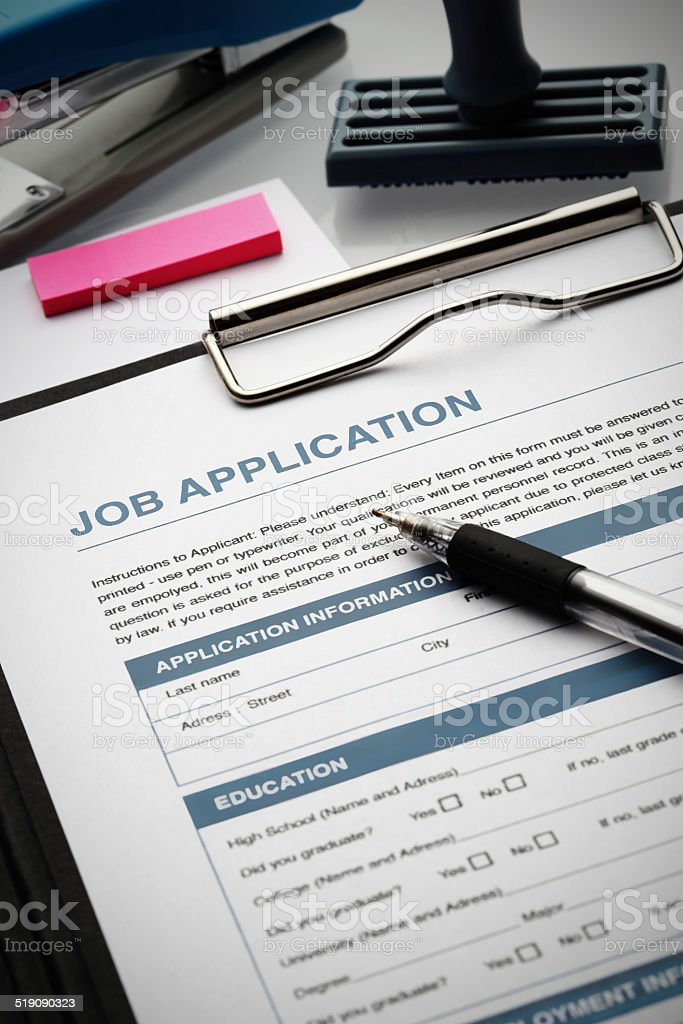Apply for new job by Application Document stock photo