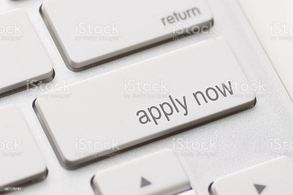 Apply Now Computer Key stock photo