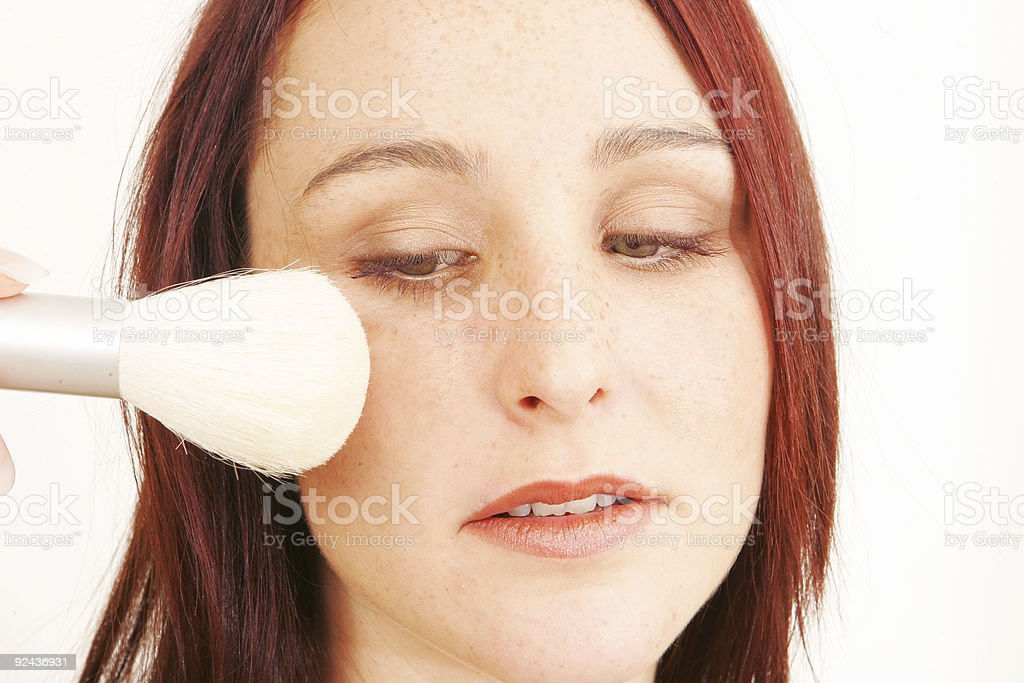 Applying Blusher royalty-free stock photo