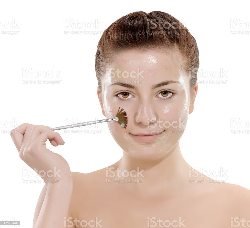 applying face makeup royalty-free stock photo