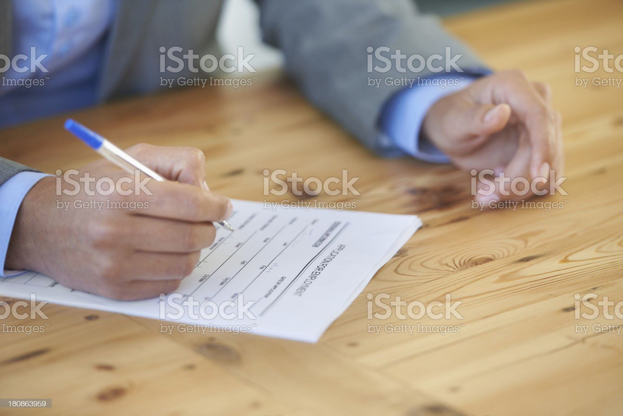 Applying for a job royalty-free stock photo