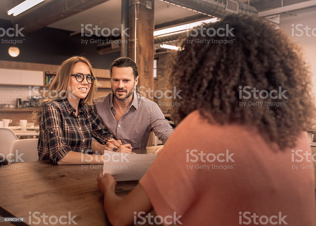Applying for a mortgage stock photo