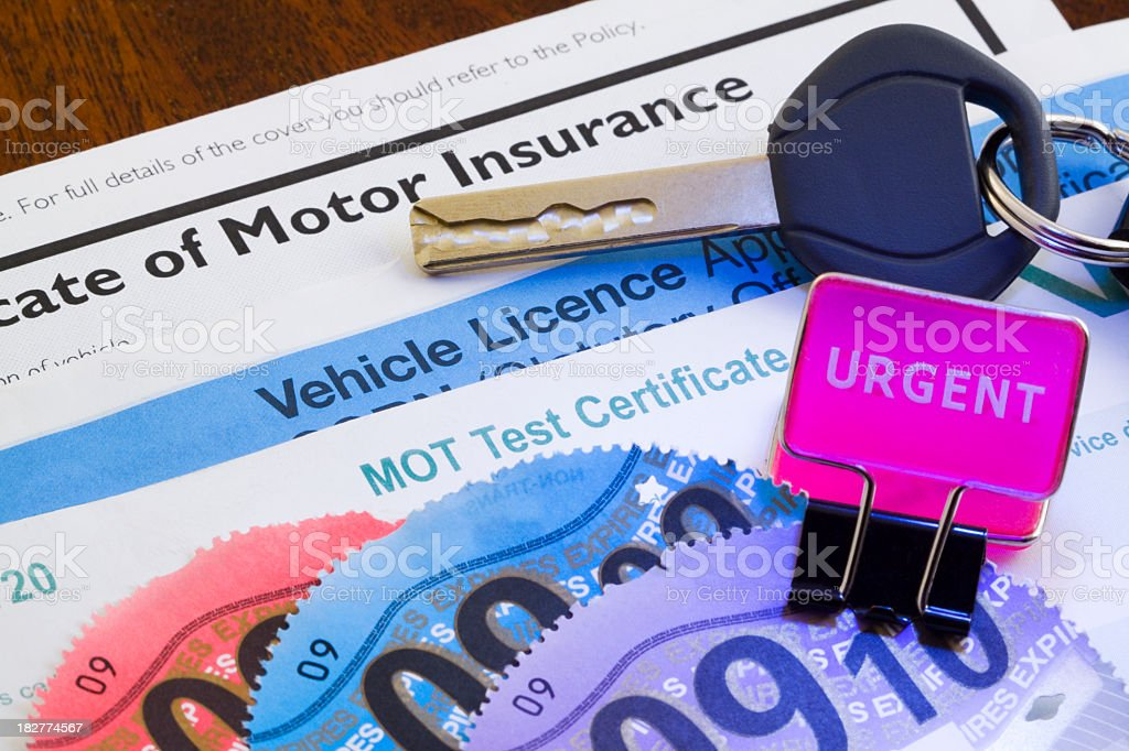 Applying for UK Road Tax royalty-free stock photo