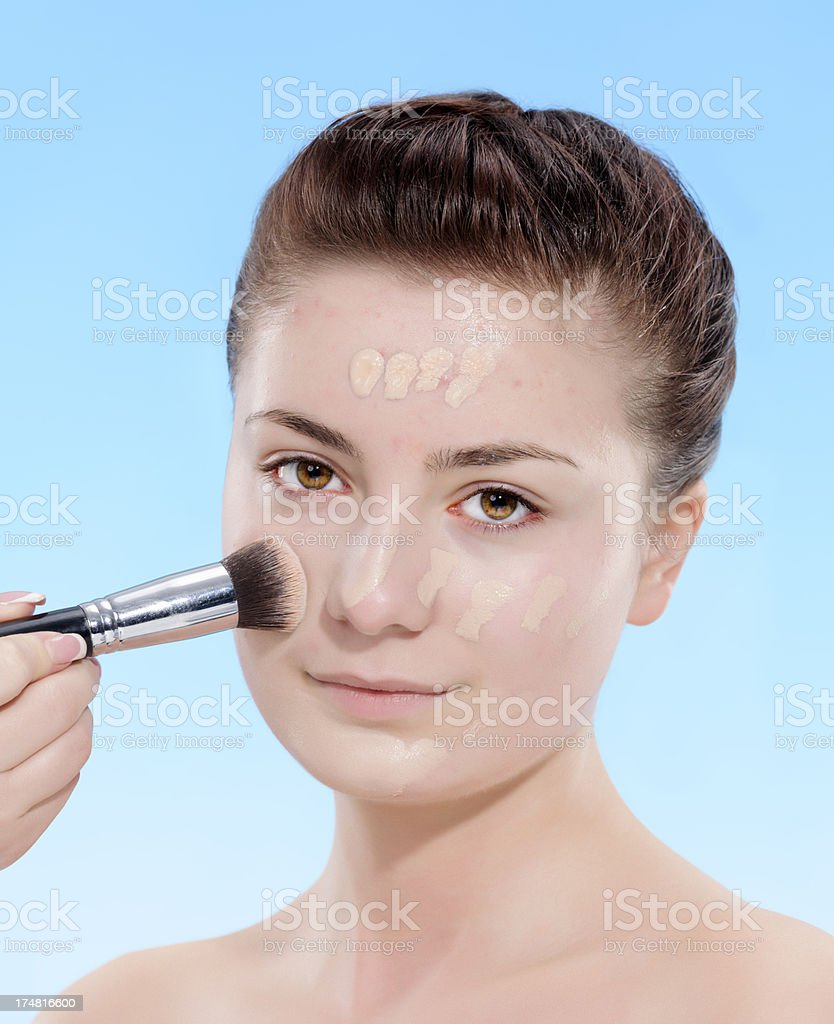 applying foundation royalty-free stock photo