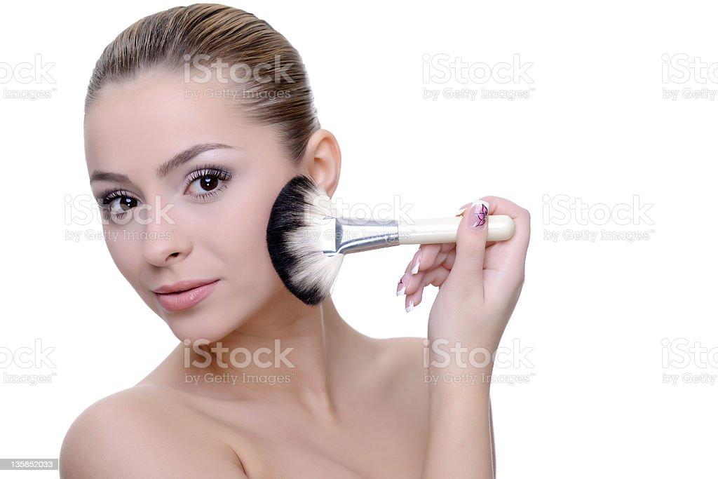 Application de maquillage photo libre de droits