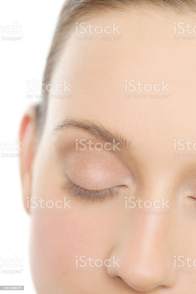 Applying Makeup stock photo