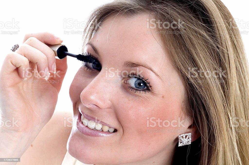 Applying the Mascara royalty-free stock photo