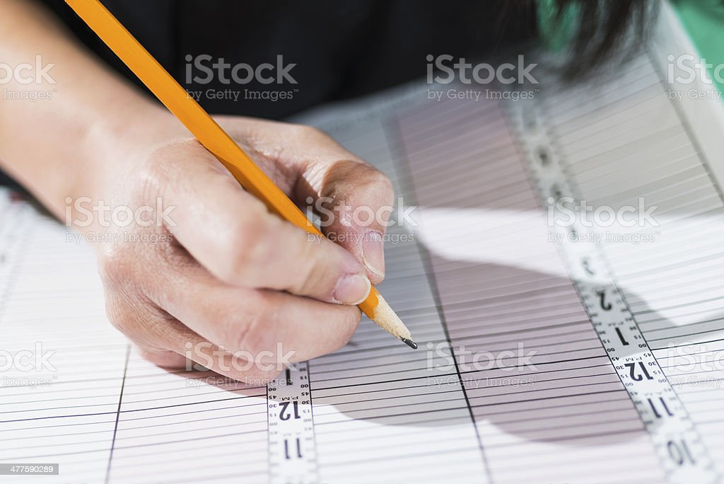 Appointment book stock photo