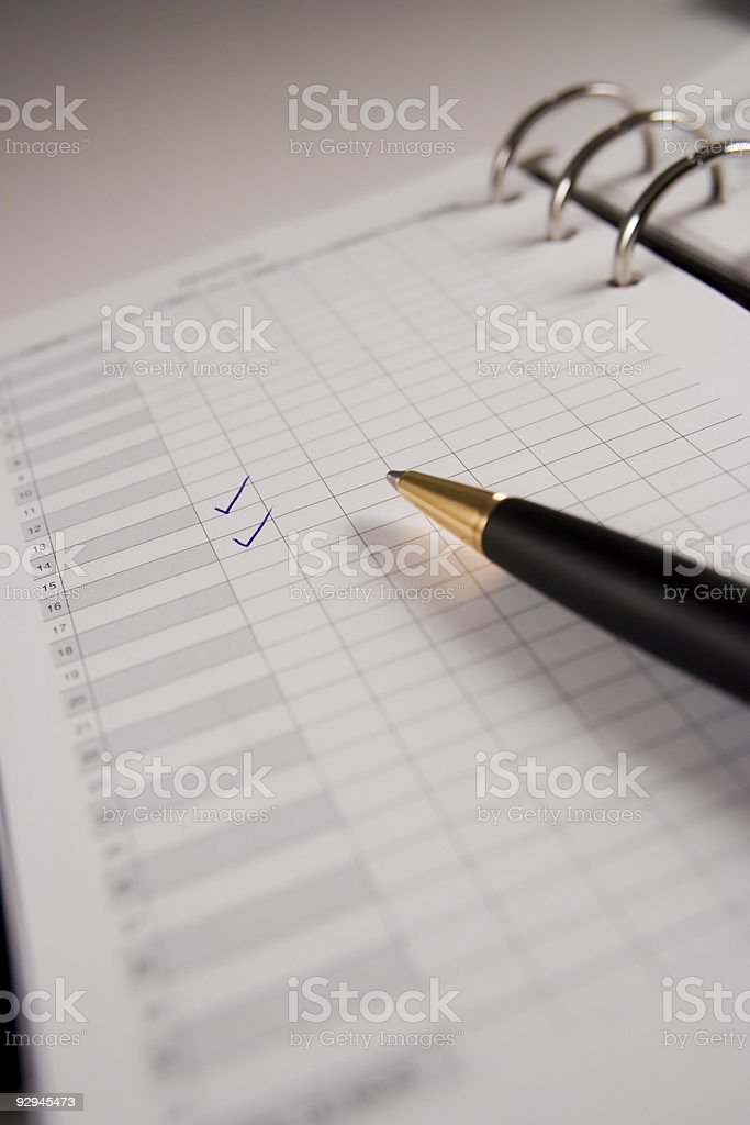Appointment book royalty-free stock photo