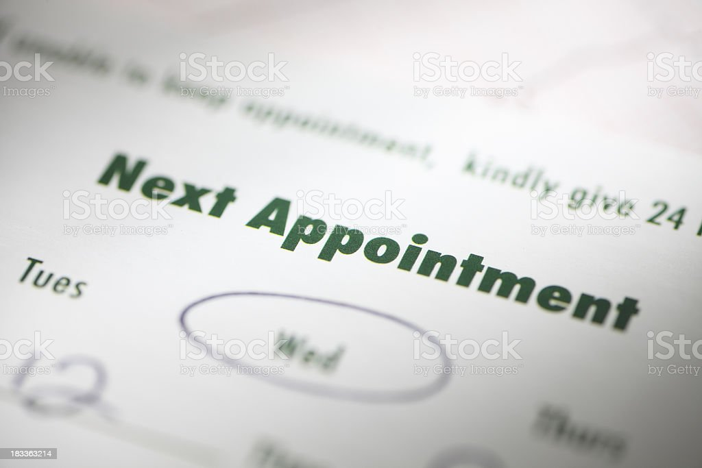 Appointment royalty-free stock photo