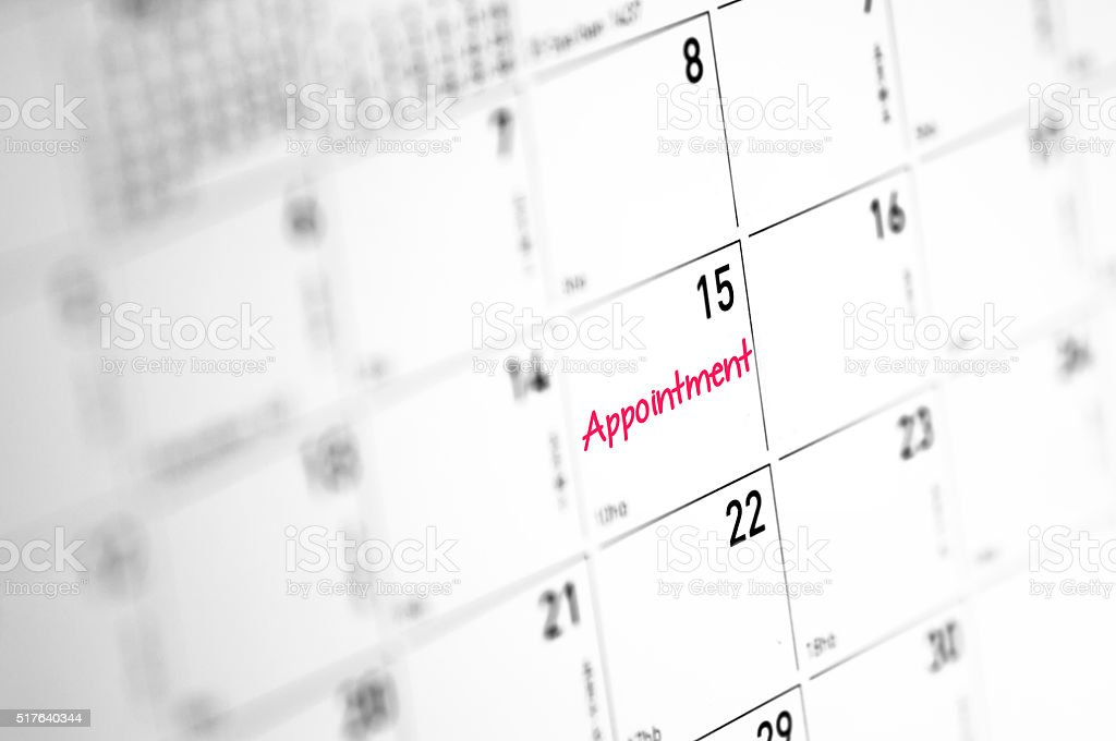 Appointment Reminder stock photo