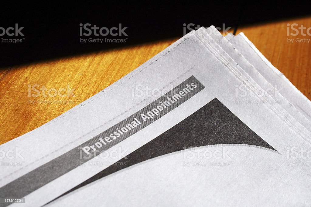 appointments advertising: professional careers royalty-free stock photo