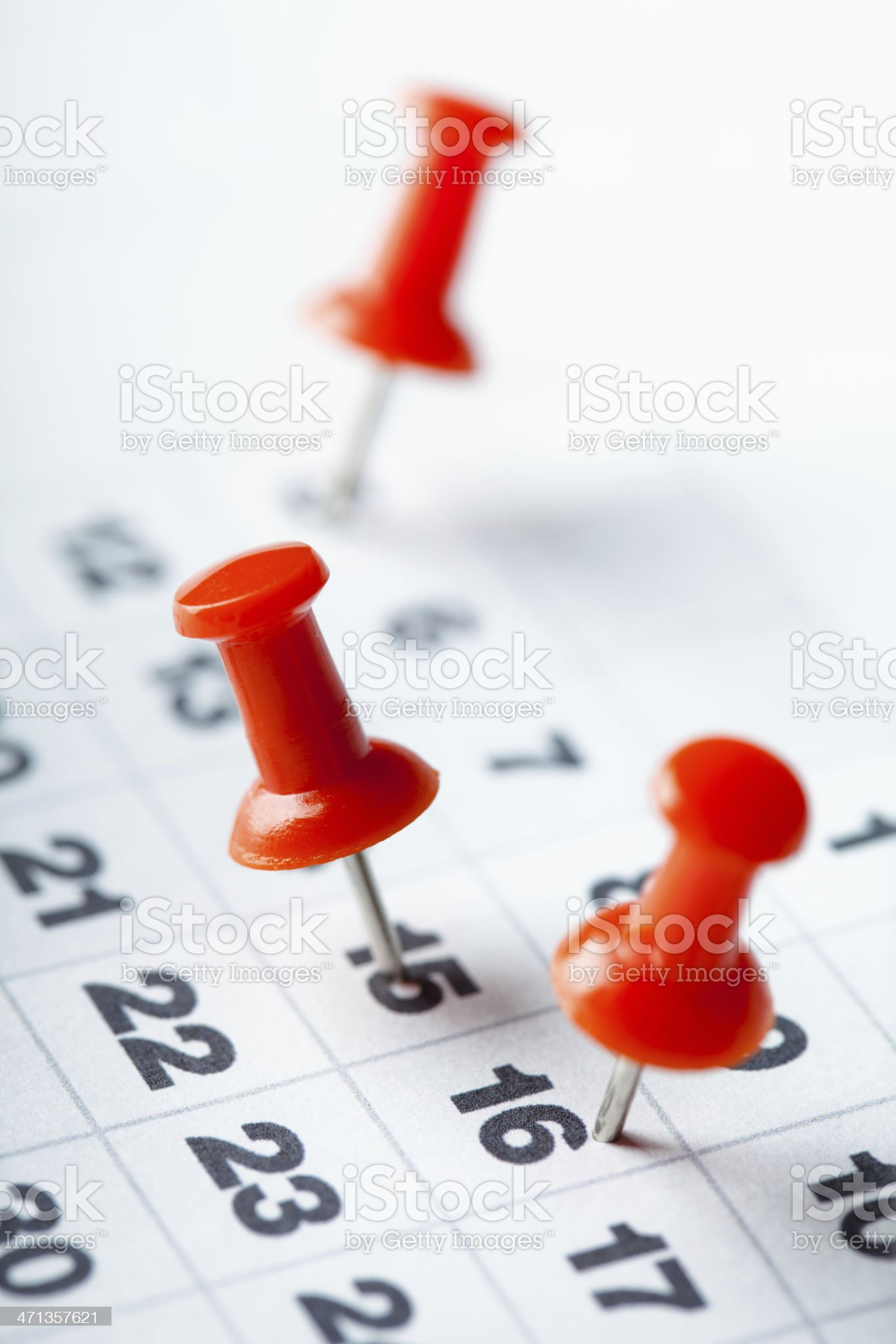Appointments marked on calendar royalty-free stock photo
