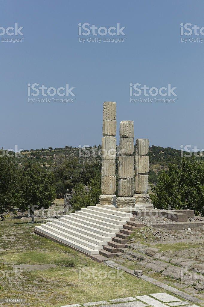 Appollon smintheion temple at gulpinar canakkale turkey stock photo