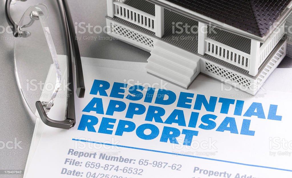 Appraisal Report stock photo