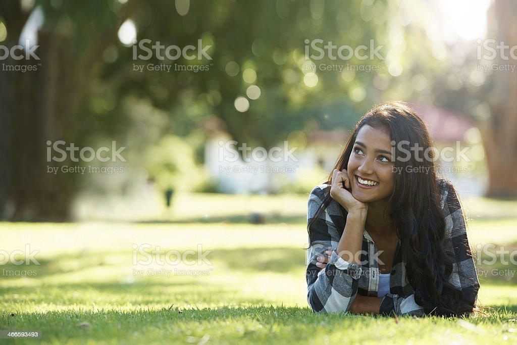 Appreciating natural beauty stock photo