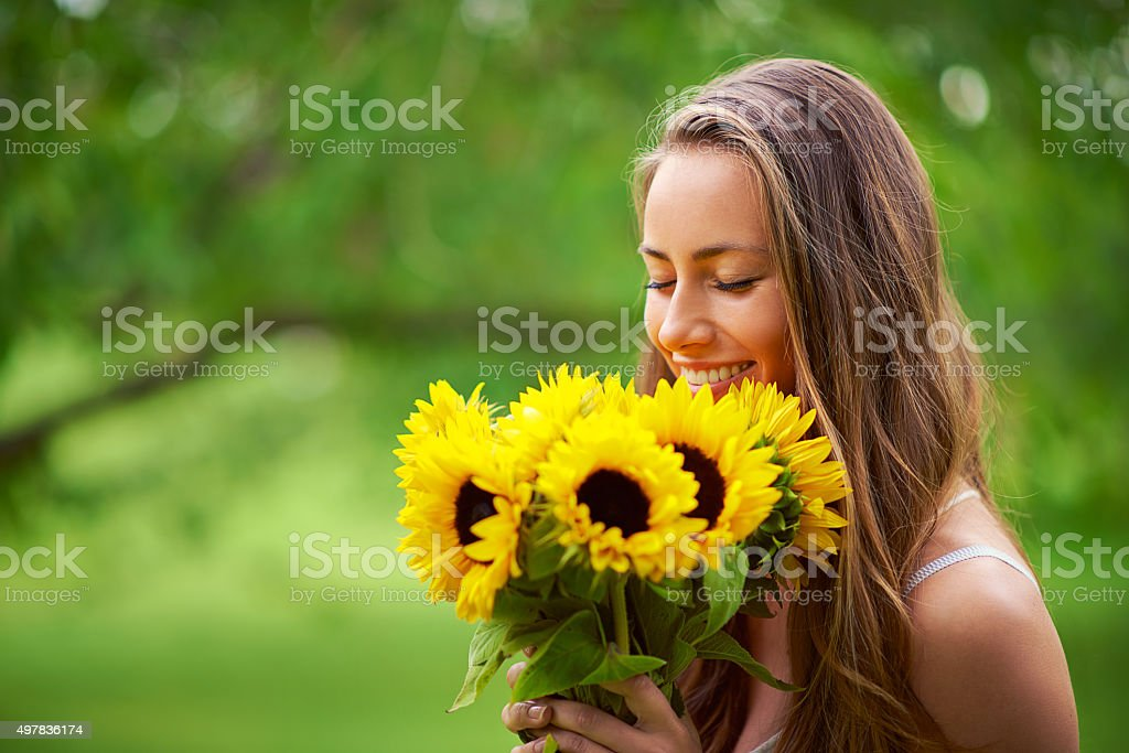 Appreciating the beauty of nature stock photo