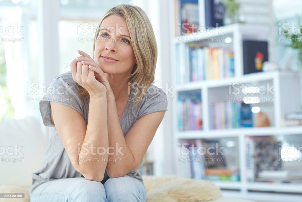 Appreciating the peace and quiet stock photo