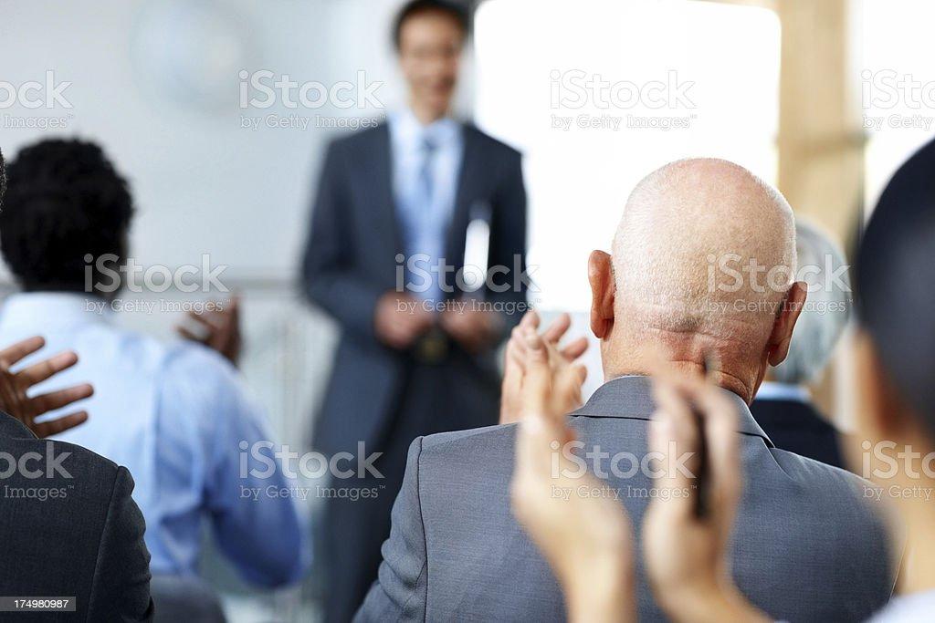 Appreciating the presentation stock photo